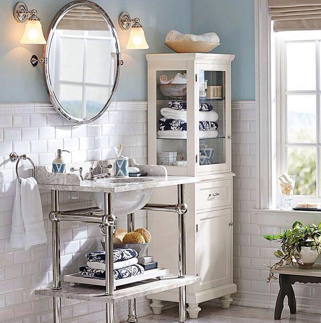 Pottery barn bathroom bath pinterest for Bathroom decor pottery barn