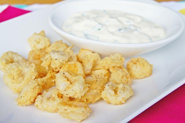 Fried Calamari with Lemon Basil Sauce ~The Kitchen Life of a Navy Wife
