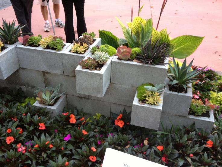 Cinder Block Wall Backyard : Cinder block garden wall  Gardening  Pinterest