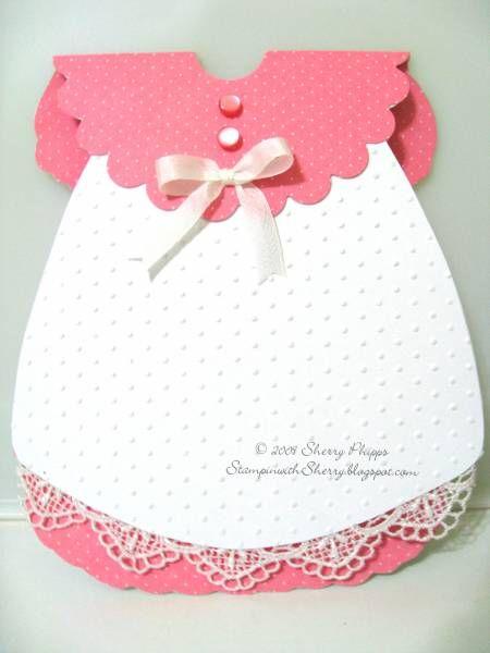 Baby girl dress card | handmade cards~baby | Pinterest