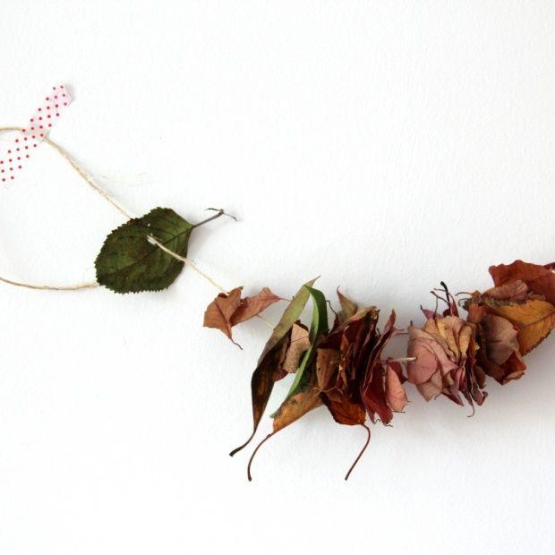 ... , Tags Herbstdekoration, Blätter, Girlande, Dekoideen, Bastelideen