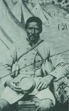 """Marlboro"" African-American bodyservant to white Confederate soldier"