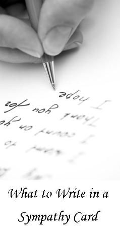 Beautiful sympathy verses and sayings to write in