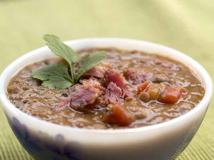 Slow Cooker Lentil and Ham Soup Recipe | Crockpot | Pinterest