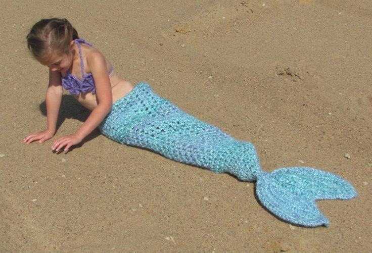 Crochet Patterns Mermaid Tail : Set of 3 Crochet Patterns for Mermaid Tail, Headband, and Shell Bikin ...