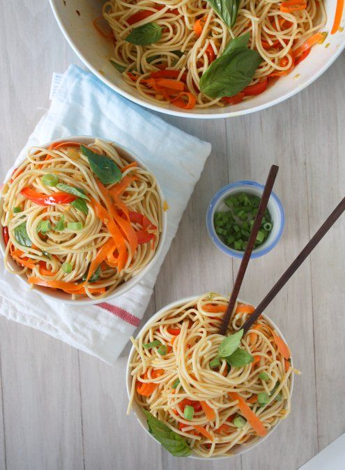 Cold Soba Noodles with Sesame Ginger Scallion Sauce | Recipe