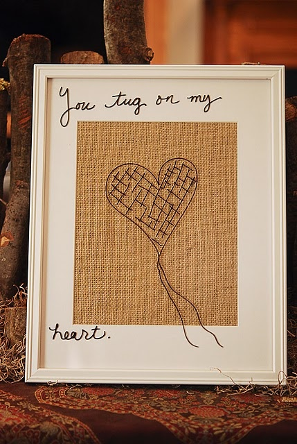 write on the glass / fabric or paper in the frame