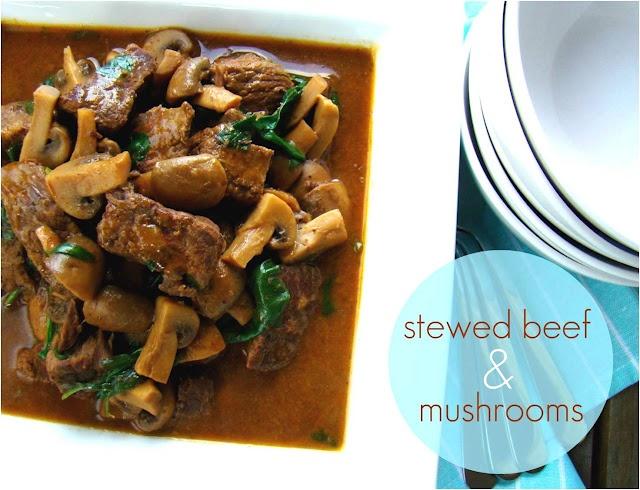 Stewed Beef & Mushrooms | stew beef | Pinterest