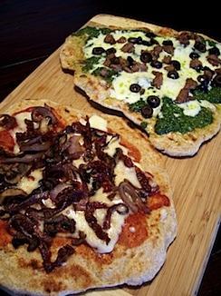 Pizza on the grill, plus Whole Wheat Pizza Dough & Pizza Pesto
