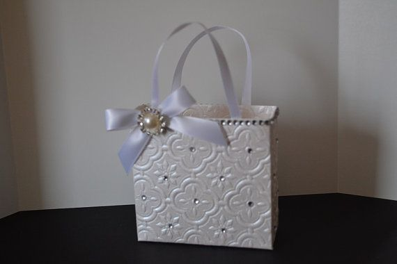 Elegant wedding party small gift bag with bling by steppnout, USD6.00