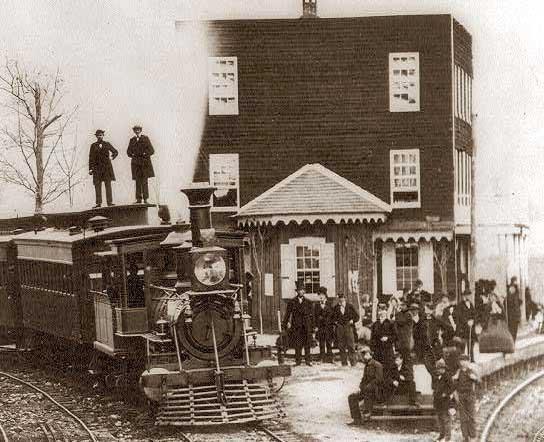 Hanover Junction, Pennsylvania. 1863. Hanover Junction Railroad Station