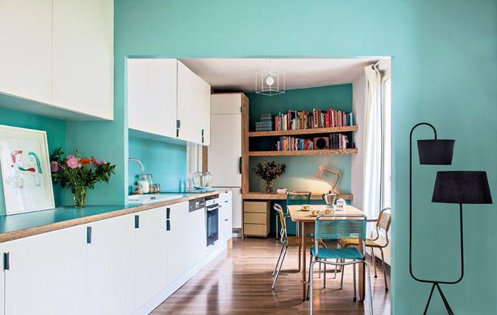 Cuisine salle manger bleue cuisines salles manger - Cuisine salle a manger ...