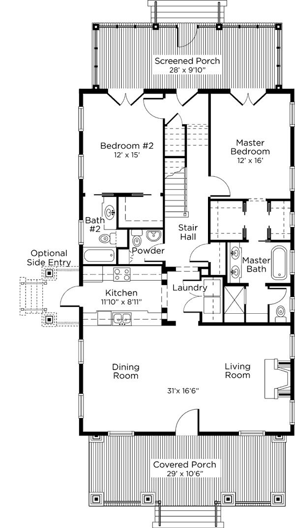 southern living main floor plan cottage storage