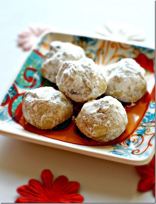 Milk Chocolate Chip Orange Shortbread Cookies