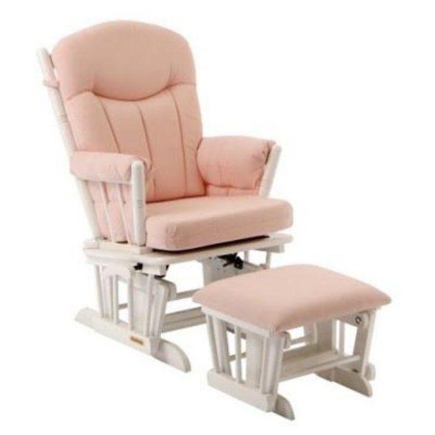 ... Deluxe Nursery Glider & Ottoman Set - Glider Rockers at Rocking Chairs