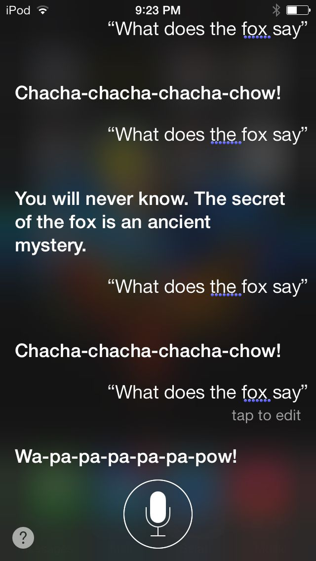 what does the fox say siri makes me laugh