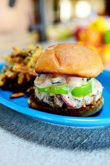 Supreme pizza burger | food/drinks. | Pinterest