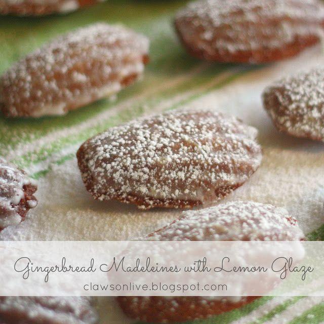 Lemon Glazed Gingerbread Madeleines | recipe box - cookies | Pinterest