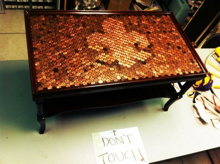 Penny Coffee Table Auction Project Ideas Pinterest