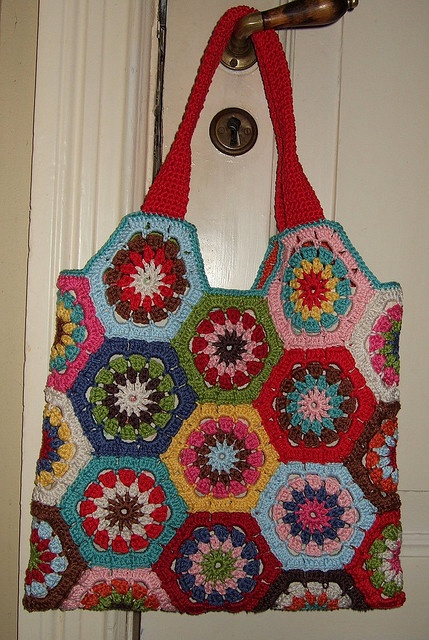 Crochet Hexagon Bag : hexagon bag Craft Ideas Pinterest