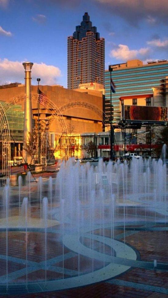 Centennial Olympic Park, Atlanta, Georgia, United States.