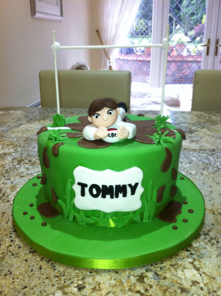 Cake Decorating Ideas Rugby : Rugby Cake Cake ideas Pinterest