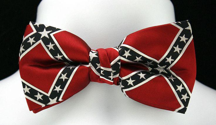 new civil war confederate flag mens bow tie wedding tuxedo