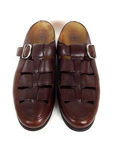 Ariat Shoes Leather Brown Comfort Buckle Slides Loafers Sandals Womens