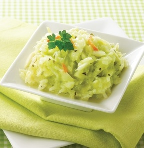 CREAMY COLE SLAW - A tangy version with cabbage and carrots in a light ...