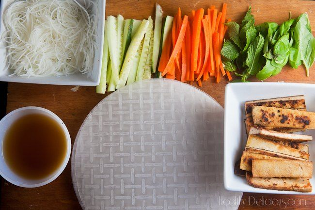 Gingery Tofu Summer Rolls with Pineapple Dipping Sauce | Recipe
