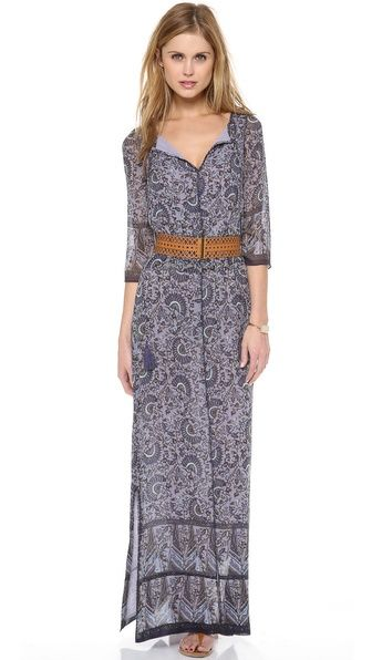 Tory Burch Long Sleeve Maxi Dress