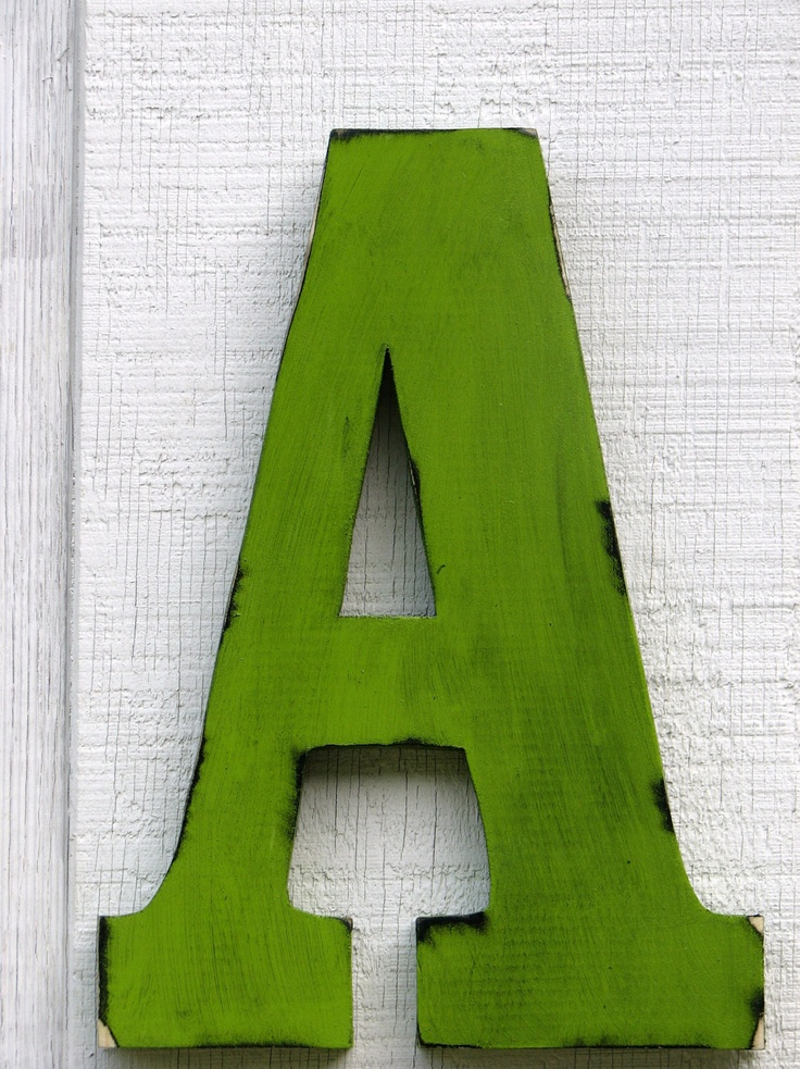 Large Wall Letters 2 Foot Rustic Wooden Letter A Distressed Painted C ...