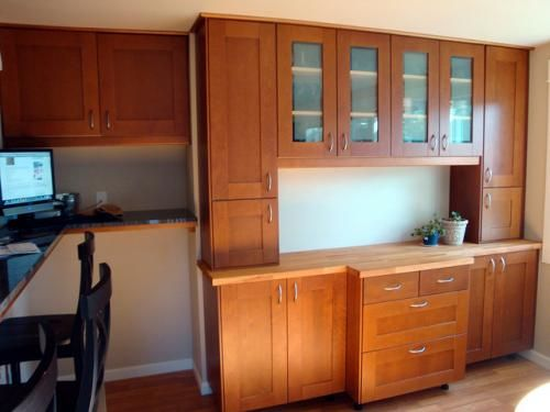 possible idea for dining room built ins using ikea cabinets