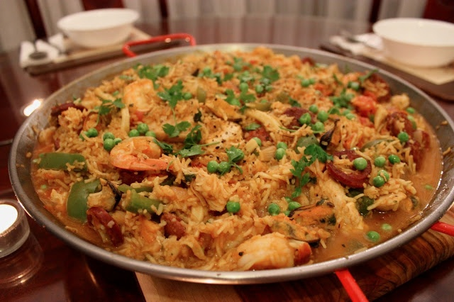 Seafood Paella with Chorizo and Pancetta | and gee said // | Pinterest