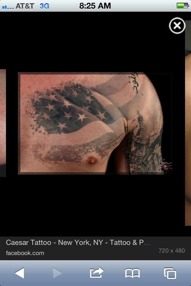 American Flag Tattoos Black And White American flag tattoo