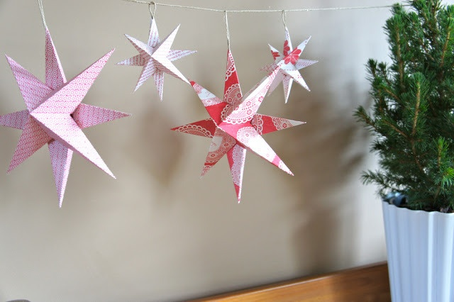 Christmas 3D paper star - tutorial | My scrapbooking | Pinterest