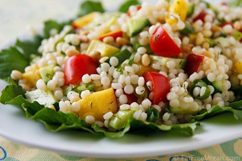 Israeli Couscous Summer Pilaf...I used whole wheat Israeli couscous ...