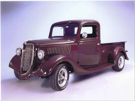 old red pickup truck ford