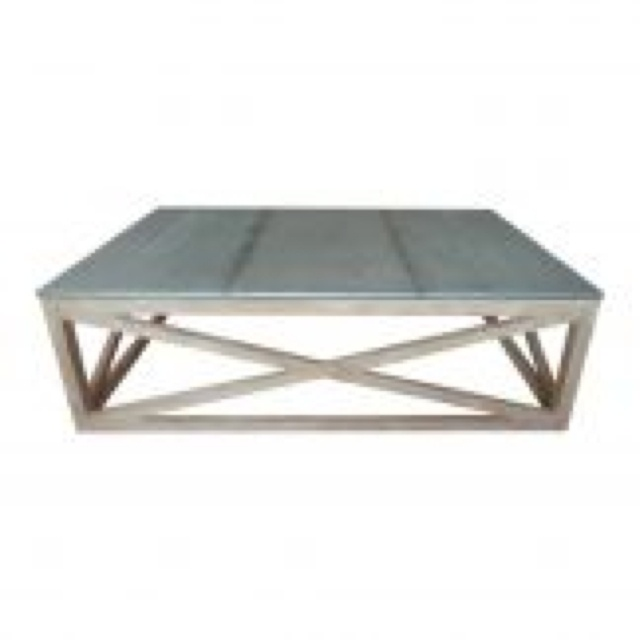Zinc Topped Coffee Table For The Home Pinterest