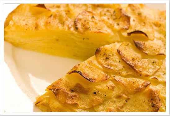From My Gourmet Connection, super simple oven-roasted potato galette.