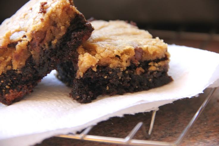 Chocolate Chip Cookie Dough Brownie | Sweet Treats | Pinterest