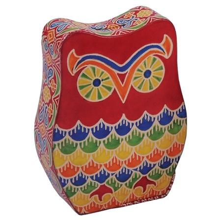 {Owl Leather Money Box}