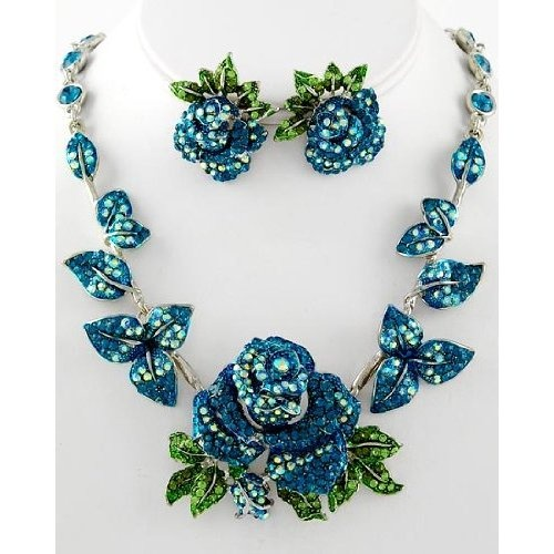 Flower necklace set jewelry jewelry i love for Best selling jewelry on amazon