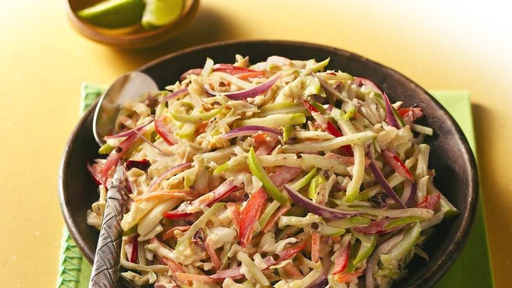 Spicy Mexican Cabbage Slaw - great in fish tacos