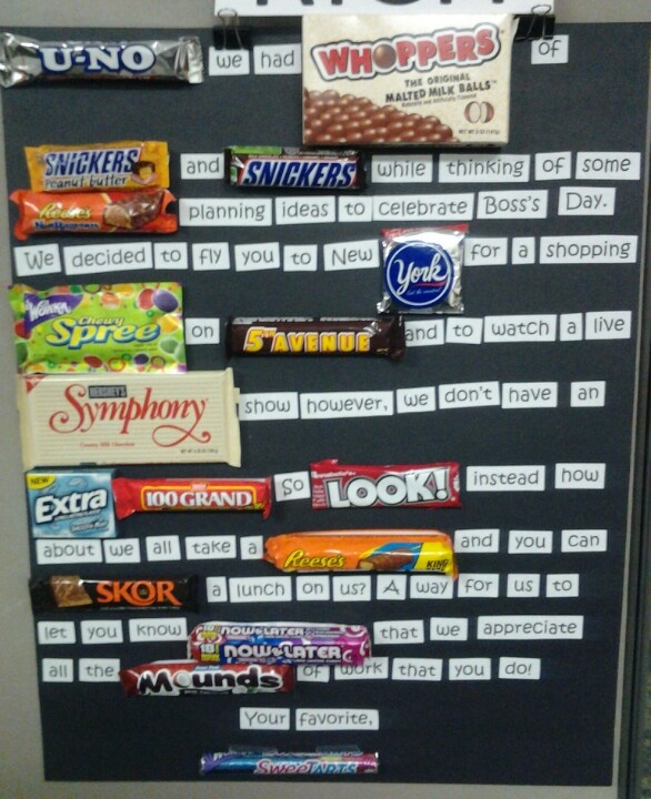 Boss's Day Candy Bar Poster
