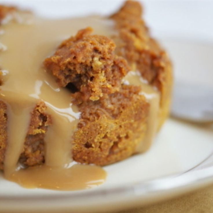 Pumpkin Bread Pudding with Caramel Sauce | Sweets | Pinterest