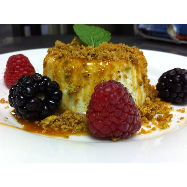 Ricotta Cheesecake with Orange-Cinnamon Caramel, Pistachio Crust and ...