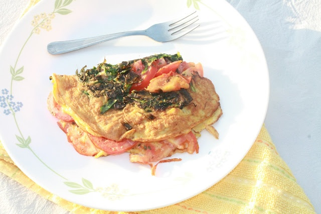 Spinach Tomato Omelet | My Style | Pinterest