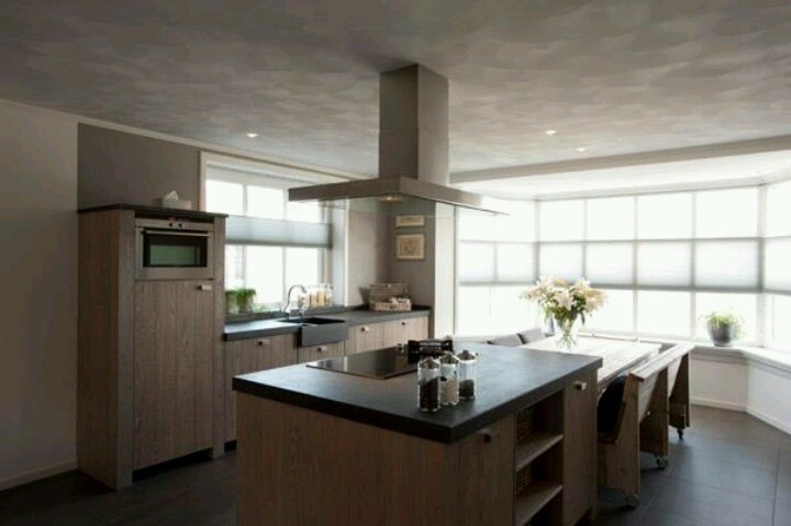 Groene Keuken Deventer : Houten keuken met kookeiland Perfect Kitchen Pinterest