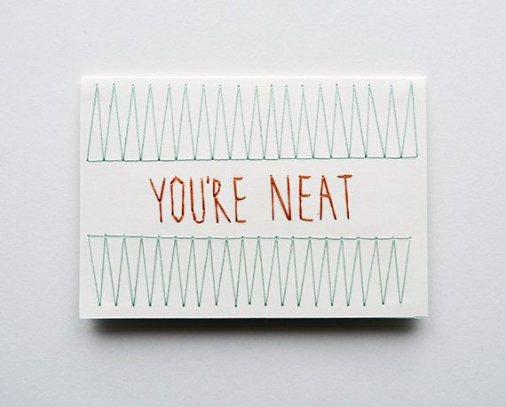 Great hand stitched note card on Etsy
